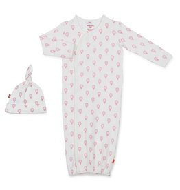 Magnificent Baby Magnificent Baby Open Sky Organic Cotton Gown and Hat Set *more colors*