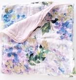 Loulou Lollipop Loulou Lollipop Hydrangea Luxe Muslin Quilt Blanket