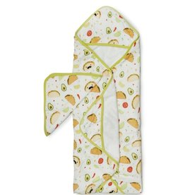 Loulou Lollipop Loulou Lollipop Hooded Towel Set- Tacos