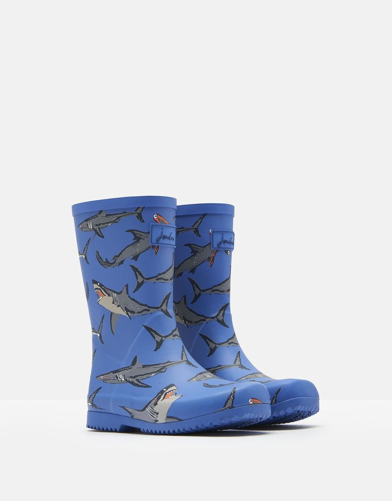 Joules Joules Roll Up Shark Rain Boots
