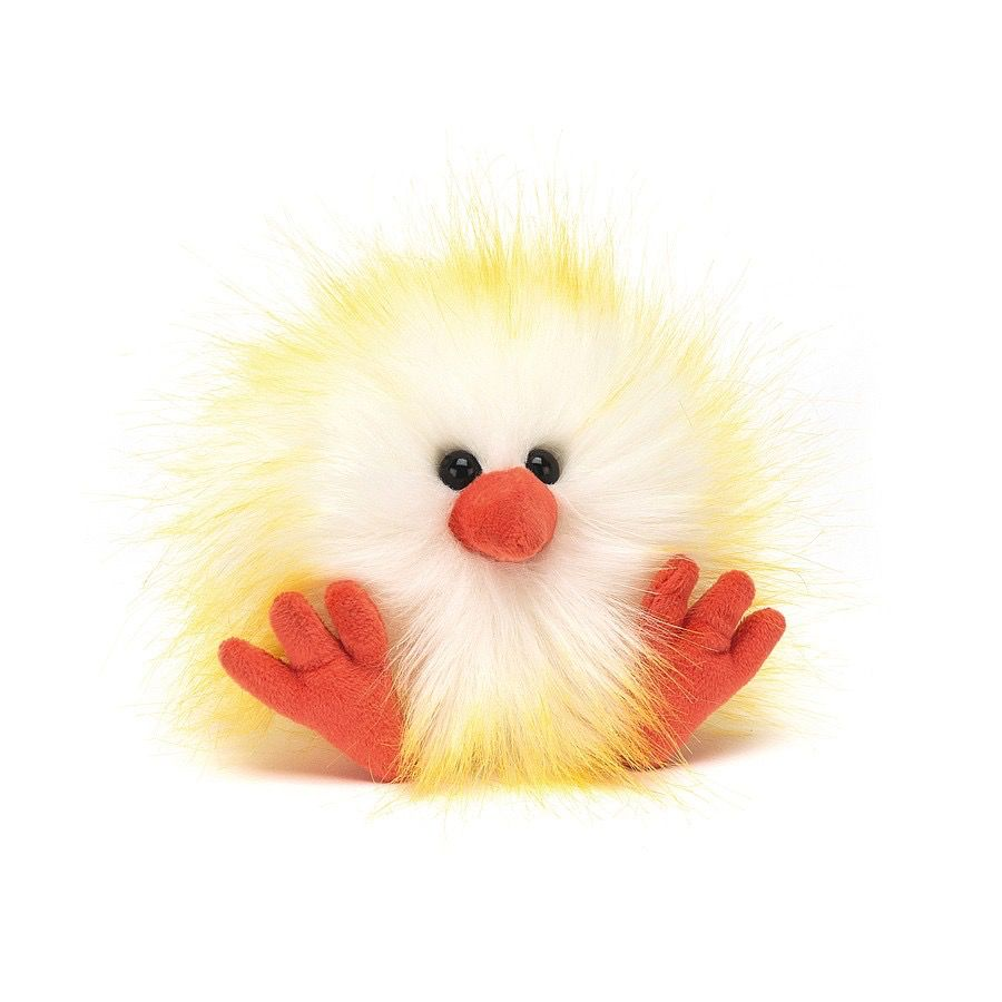 JellyCat Jelly Cat Crazy Chick Yellow and White