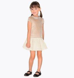 Mayoral Mayoral Velvet Combined Dress