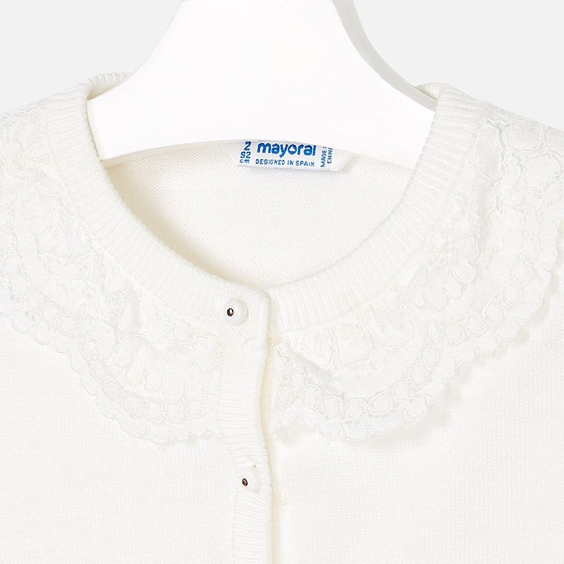 Mayoral Mayoral Tricot Cardigan with Lace