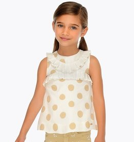 Mayoral Mayoral Dotted Blouse