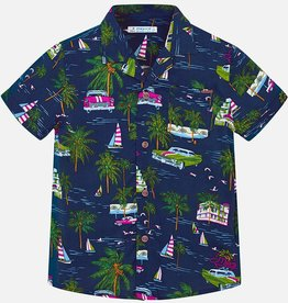 Mayoral Mayoral Printed Button Down