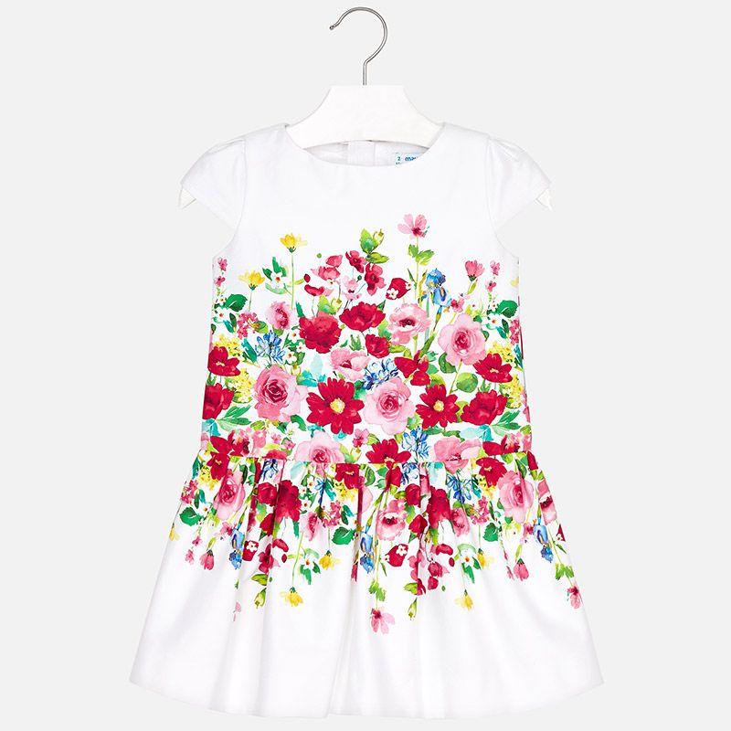 Mayoral Mayoral Printed Flower Dress