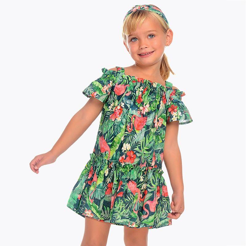 Mayoral Mayoral Floral Printed Dress