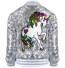 Lola & the Boys Lola & the Boys Unicorn Sequin Bomber