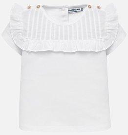 Mayoral Mayoral Short Sleeve Ruffle Shirt