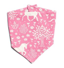 Winter Water Factory Winter Water Factory Kerchief Bib - Magical Forest Pink