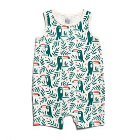 Winter Water Factory Winter Water Factory Tank Top Romper- Toucans