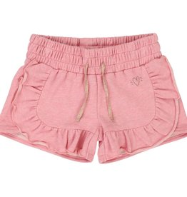Billieblush Billieblush Shimmery French Terry Shorts with Ruffles