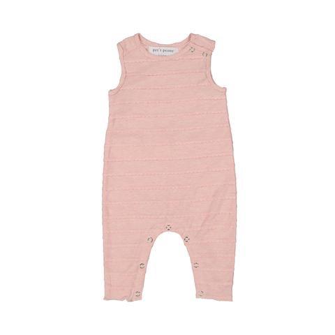 Petit Peony Petit Peony Baby Pink Scalloped Romper