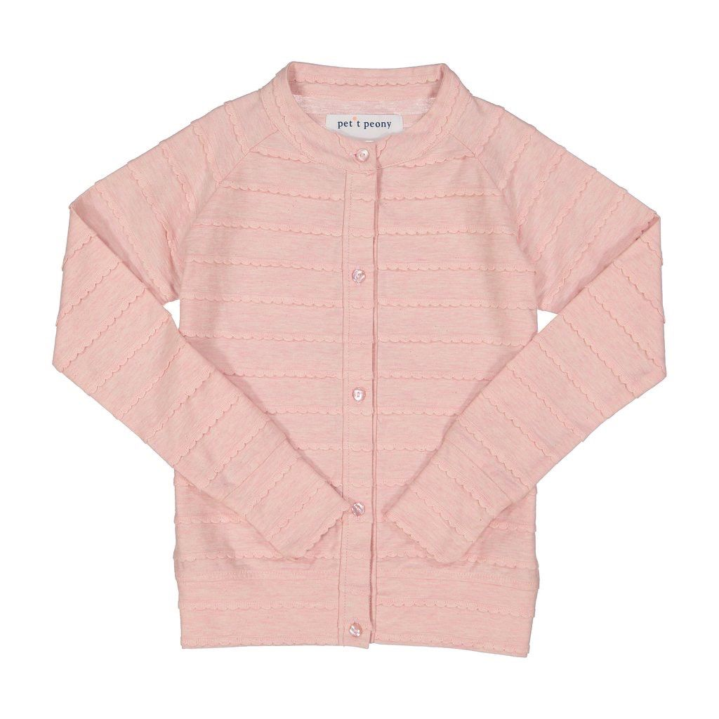 Petit Peony Petit Peony Scalloped Cardigan *more colors*