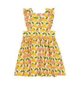 Petit Peony Petit Peony Citrus Pinny Dress