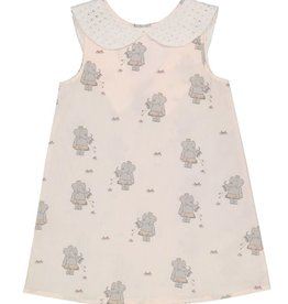 Petit Peony Petit Peony Elephant Peter Pan Dress