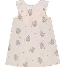 Petit Peony Petit Peony Elephant Peter Pan Dress