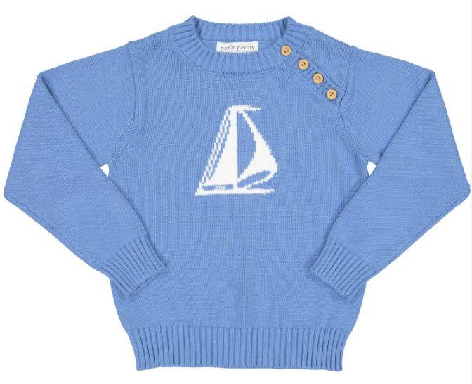 Petit Peony Petit Peony Sailboat Sweater