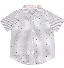 deux par deux Deux Par Deux Fish Print Button Down