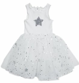 Petite Hailey Petite Hailey Sparkle Tutu Dress with Star