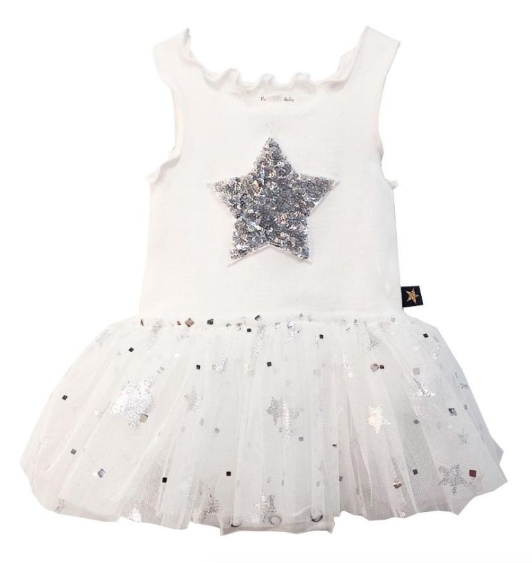 Petite Hailey Petite Hailey Baby Sparkle Tutu Dress with Star