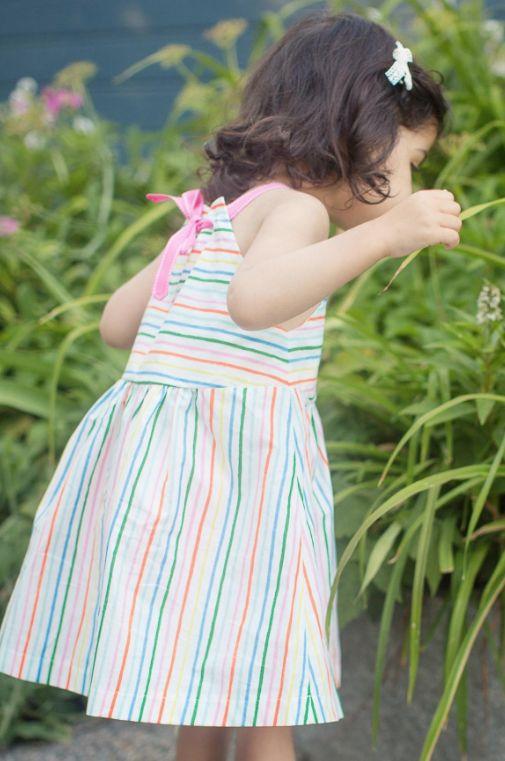 Thimble Thimble Sundress in Summer Stripe