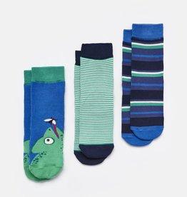 Joules Joules Brilliant Bamboo Chameleon Character Socks