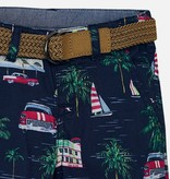 Mayoral Mayoral Printed Shorts with Belt