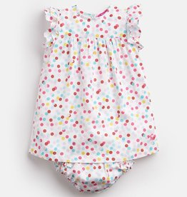 Joules Joules Betty Multi Spot Dress with Bloomer