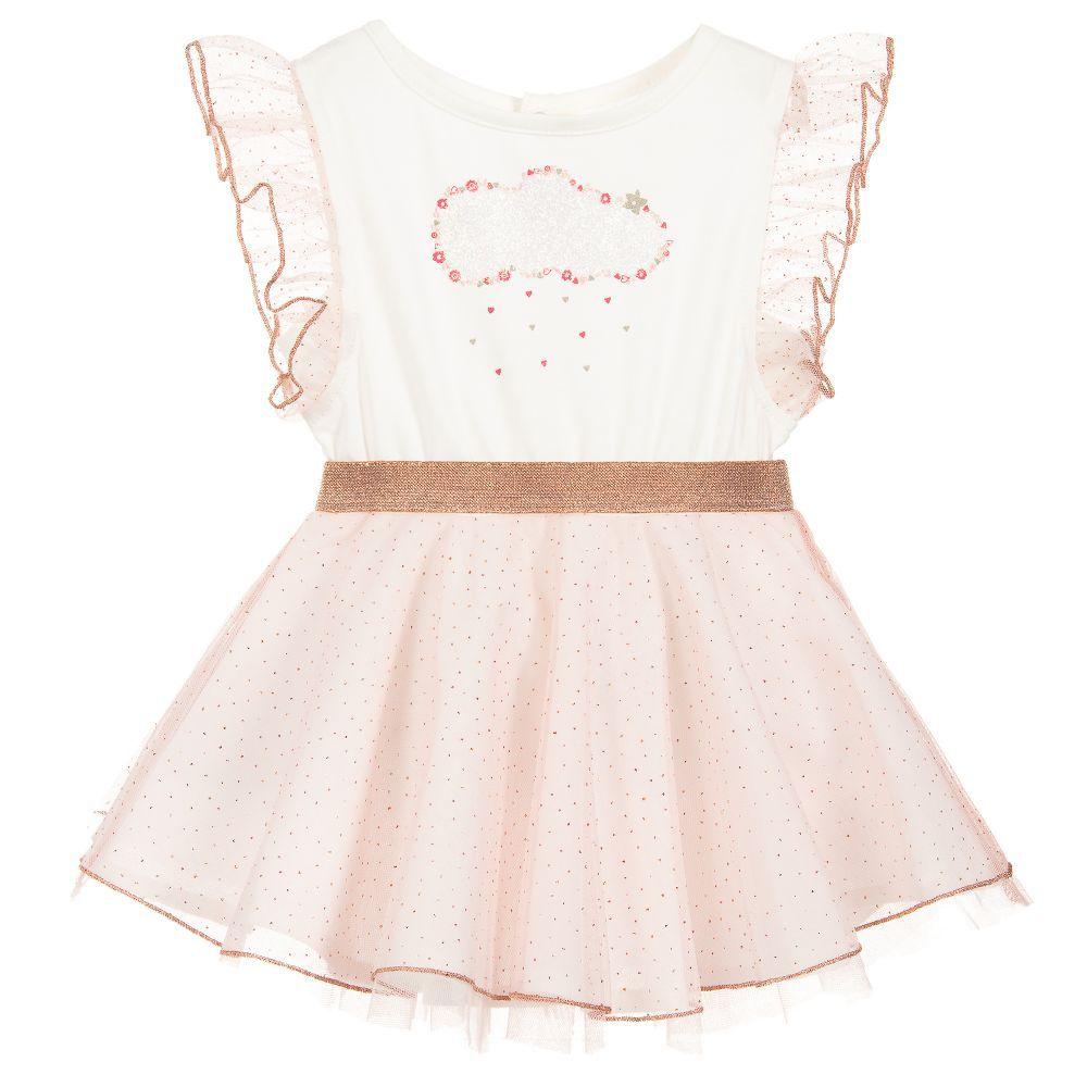 Billieblush Billieblush Tulle Dress with Cloud