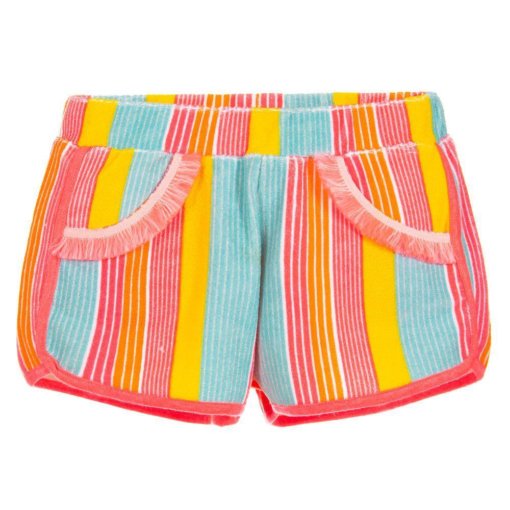 Billieblush Billieblush Striped Terry Towel Shorts