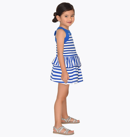Mayoral Mayoral Striped Ruffle Dress
