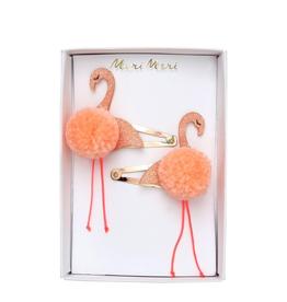 Meri Meri Meri Meri Flamingo Pompom Hair Slides