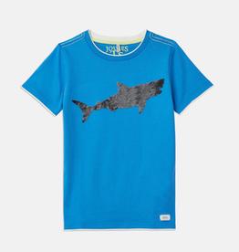 Joules Joules Cullen Reversible Sequin Shark T-Shirt