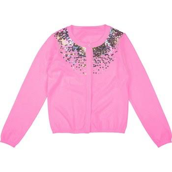 Billieblush Billieblush Knit Cardigan with Sequin Embroidery