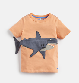 Joules Joules Chomper Shark Applique T-Shirt