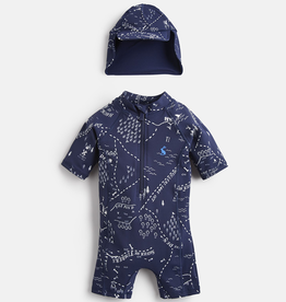 Joules Joules Treasure Map Sunsuit and Hat Set
