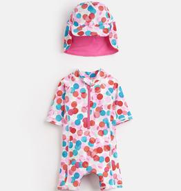Joules Joules Fairy Spot Sunsuit and Hat Set