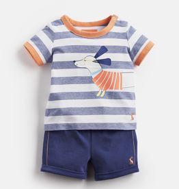 Joules Joules Barnacle Sausage Dog Top and Shorts Set