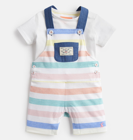 Joules Joules Duncan Multi Stirpe Overalls and Top Set