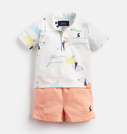 Joules Joules Ernest Sausage Dogs Polo Shirt and Shorts Set