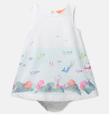 Joules Joules Bunty Mermaid Border Dress with Bloomer