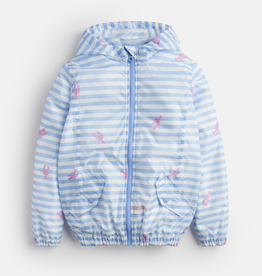 Joules Joules Golightly Lobster Stripe Rain Jacket