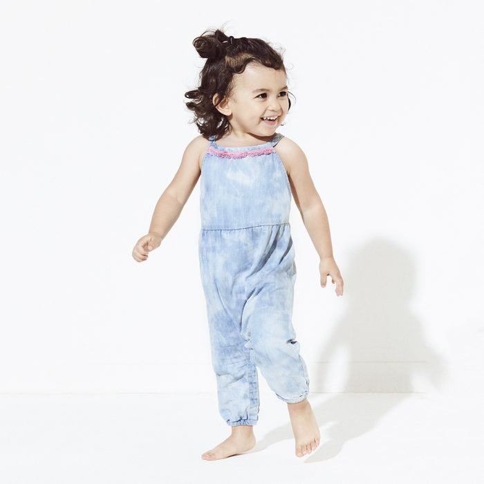 Egg Egg Lucia Denim Romper