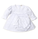 kissy kissy Kissy Kissy Dress with Hand Embroidery and Diaper Cover