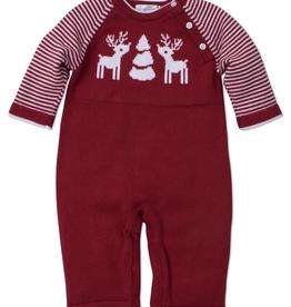 kissy kissy Kissy Kissy Reindeer Knit Playsuit