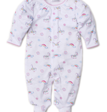 kissy kissy Kissy Kissy Rainbow Unicorns Print Footie