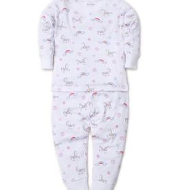 kissy kissy Kissy Kissy Rainbow Unicorns Print Pajama Set