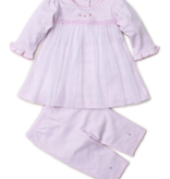 kissy kissy Kissy Kissy Royal Carriage Dress and Leggings Set with Hand Embroidery