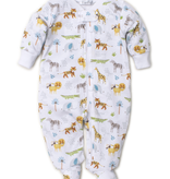 kissy kissy Kissy Kissy Jungle Junket Print Footie with Zipper